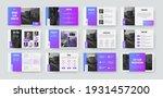 presentation slide template ... | Shutterstock .eps vector #1931457200