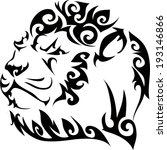 lion tattoos and designs. | Shutterstock .eps vector #193146866