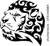 lion tattoos and designs. | Shutterstock .eps vector #193146884