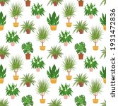 seamless pattern with potted...   Shutterstock .eps vector #1931472836