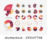 infographic elements pie chart... | Shutterstock .eps vector #193147748