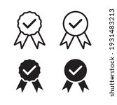 quality icon. quality guarantee ... | Shutterstock .eps vector #1931483213