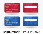 red and blue credit card mockup ... | Shutterstock .eps vector #1931490560