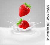 appetizing strawberries with... | Shutterstock .eps vector #193149209