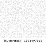 social media doodle seamless... | Shutterstock .eps vector #1931497916