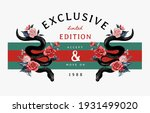 exclusive slogan with snake and ... | Shutterstock .eps vector #1931499020
