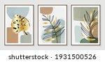 botanical wall art vector set.... | Shutterstock .eps vector #1931500526