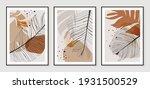 botanical wall art vector set.... | Shutterstock .eps vector #1931500529