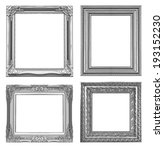 silver picture frame isolated... | Shutterstock . vector #193152230