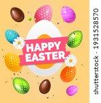 happy easter label festive... | Shutterstock .eps vector #1931528570