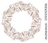 bread frame  illustration  ring ... | Shutterstock .eps vector #1931529206