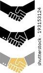 compilation of handshake | Shutterstock .eps vector #193153124