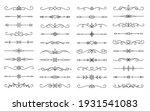 divider thin line element set.... | Shutterstock .eps vector #1931541083