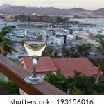 glass of white wine with...   Shutterstock . vector #193156016