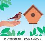 Bird In Hand Near The Trough....