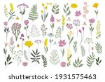 collection of meadow flowers... | Shutterstock .eps vector #1931575463