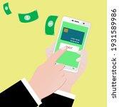 holding phone for communication ... | Shutterstock .eps vector #1931589986