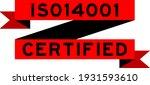 vintage red color ribbon banner ... | Shutterstock .eps vector #1931593610
