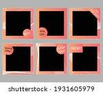 set of trendy editable square... | Shutterstock .eps vector #1931605979