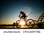 Young Man On His Mountain Bike...