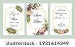 wedding invitation vintage... | Shutterstock .eps vector #1931614349