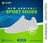 sports shoes square social... | Shutterstock .eps vector #1931617013