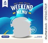 food menu and restaurant burger ... | Shutterstock .eps vector #1931617019