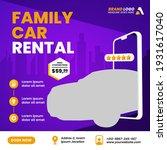 car rental promotion social... | Shutterstock .eps vector #1931617040