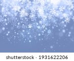 winter background with falling... | Shutterstock . vector #1931622206