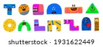 colorful funny creatures. cute... | Shutterstock .eps vector #1931622449