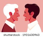 grandfather and grandson in... | Shutterstock .eps vector #1931630963