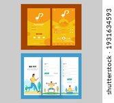musical and fitness app ui... | Shutterstock .eps vector #1931634593