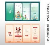 set of ui  ux  gui screens... | Shutterstock .eps vector #1931634599