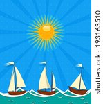 seascape background with... | Shutterstock .eps vector #193163510