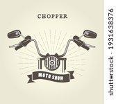 chopper moto handlebar with... | Shutterstock .eps vector #1931638376