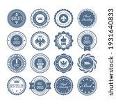 emblems  badges and stamps  set ... | Shutterstock .eps vector #1931640833