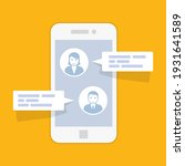 smartphone chat interface ... | Shutterstock .eps vector #1931641589