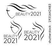 logo template for hair salon.... | Shutterstock . vector #1931642483
