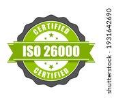 iso 26000 standard certificate... | Shutterstock .eps vector #1931642690
