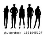 vector silhouettes of  men and... | Shutterstock .eps vector #1931645129
