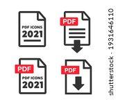 pdf document icon set. file... | Shutterstock . vector #1931646110