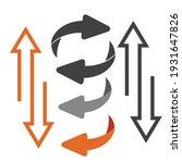 exchange logo. flip over or... | Shutterstock . vector #1931647826