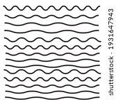 set of wavy  zigzag  horizontal ... | Shutterstock . vector #1931647943
