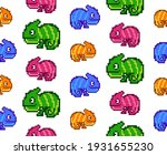 8 bit pixel multicolored... | Shutterstock .eps vector #1931655230