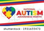 april is autism awareness month ... | Shutterstock .eps vector #1931655473
