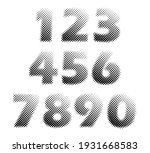 vector halftone numbers set... | Shutterstock .eps vector #1931668583