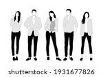 vector silhouettes of  men and... | Shutterstock .eps vector #1931677826