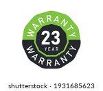 23 year warranty logo isolated... | Shutterstock .eps vector #1931685623
