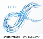 3d lines vector scientific or... | Shutterstock .eps vector #1931687390