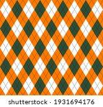 st. patricks day argyle plaid....   Shutterstock .eps vector #1931694176